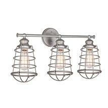 Design House 519728 Ajax 3 Light Vanity Light, Galvanized Steel Finish - €53,95 EUR