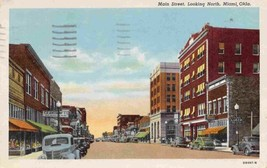 Main Street Looking North Miami Oklahoma 1950 postcard - $5.89