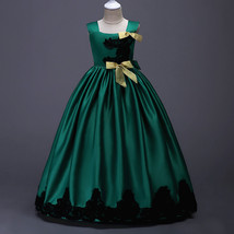 New Arrival Green Satin Flower Girl Dress Wedding Pageant Party Gowns A ... - $42.99