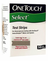 OneTouch Select Test Strips - 50 Counts-Expiry-12/ 2019- 50 strips in a box - $24.77