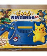 NINTENDO 64 Pikachu Limited Edition with box, instructions and additiona... - $197.99