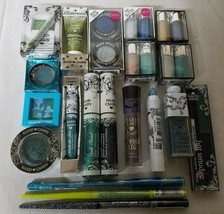 Hard Candy Eye Makeup Cosmetics BLUE & GREEN Shades Lot of 20 Different Pieces - $24.27
