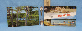 MINNESTOA VINTAGE SOUVENIR SPOON & 2 POSTCARDS - $10.88