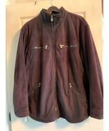 Pre-owned ARMANI COLLEZIONI Navy Faux Suede Men's Jacket SZ XXL - $118.80