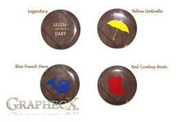 Fan-made  How I met your Mother cosplay inspired personalized buttons - $9.00