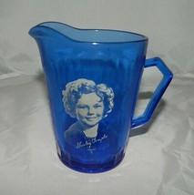 VTG Mid Century Hazel Atlas Cobalt Blue Shirley Temple Milk Creamer Pitcher - $74.25