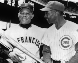 Willie Mays & Ernie Banks 8X10 Photo San Francisco Giants Cubs Baseball Picture - $3.95