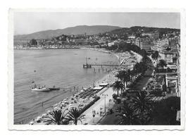 France Cannes Cote D'Azur Beach La Croisette 1948 Glossy Photo Postcard 4X6 - $4.99