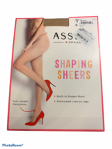 Spanx Assets Shaping Sheers Size 3 Full-Length Pantyhose Shaper Airbrush... - $9.36