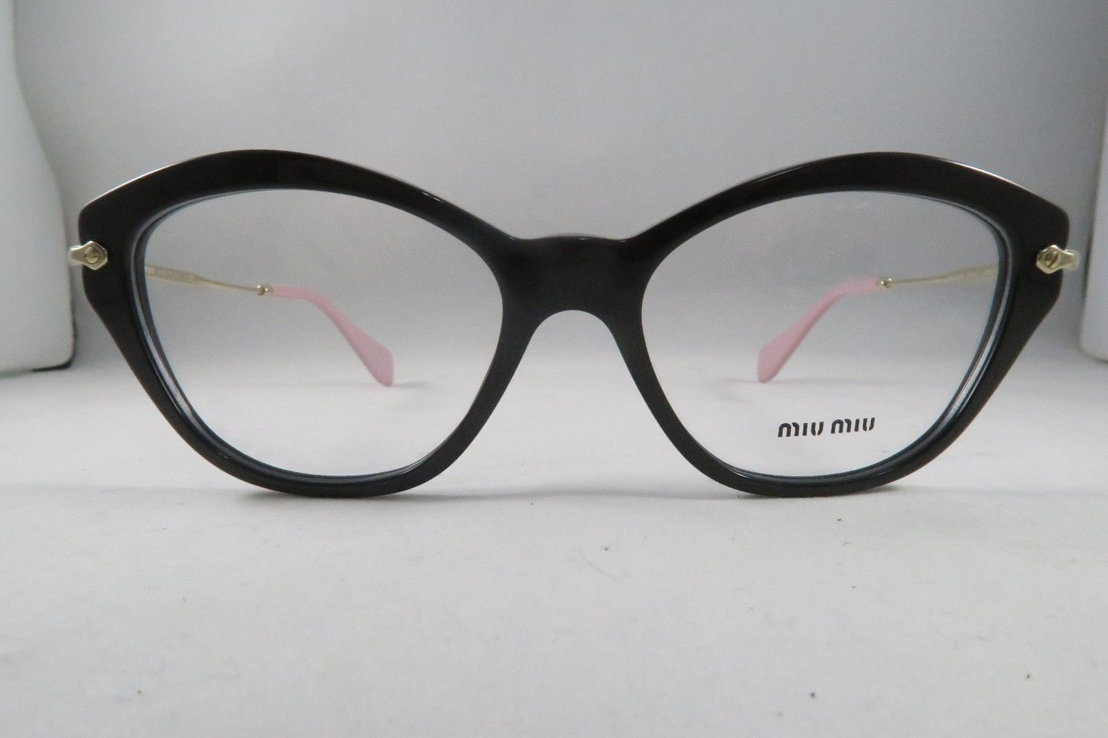 0def373c4c33 S l1600. S l1600. Previous. Miu Miu VMU 02O DHO-1O1 Brown   Gold   Pink New  Authentic Eyeglasses 54mm