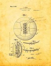 Lacing For Soccer Footballs Patent Print - Golden Look - $7.95+