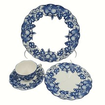 Vintage Nikko Plantation Japan Plate Cup Saucer Choice Blue White Floral... - $14.85+