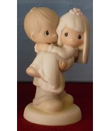 Precious Moments BLESS YOU TWO Wedding Couple Figurine Cake Topper 1982 ... - $49.00