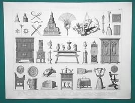 RENAISSANCE Utensils Furniture Lamps Chess Figure Watch etc - 1870s Supe... - $19.80