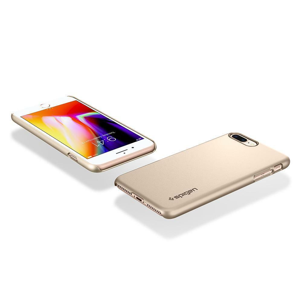 Spigen iPhone 8 Plus Case Thin Fit Champagne Gold
