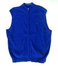 NEW Dockers Mens Sweater Vest XXL Full Zip Blue NWT - $22.20