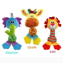 Soft Animal BeBe Toys Baby Rattle Hand Bells Plush Toy Educational Music... - $8.86