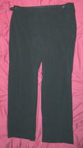 Womens Classic Liz Claiborne Brand Black Striped Causal Pants size 16 / ... - $14.92