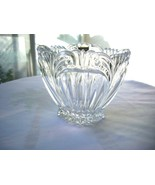 Oneida Crystal Augustina Small Oval Bowl Made in Germany - $11.88