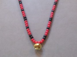 CHECKERS ~ HORSE RHYTHM BEADS ~ Red and Black ~ Size 54 inches - $17.00