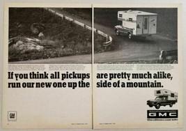 1967 Print Ad GMC Pickup Trucks with Camper Top General Motors Truck & Coach - $10.53