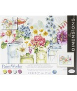 """Paint Works Paint By Number Kit 14""""X11""""-Rainbow Flowers - $24.78"""