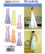 Simplicity 3826 Womens Sewing Pattern Formal Skirts with Tops Sizes 20W-28W - $8.95