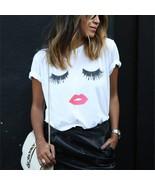 5XL Big Size 2018 New Fashion letters Print tshirts Female T-shirt Plus ... - $17.50