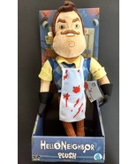 New in box Hello Neighbor plush creepy basement man bloody apron & butch... - $21.77