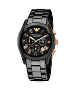 NEW Emporio Armani AR1410 Ceramica Chronograph Black Dial Men's Wrist Watch - $104.99