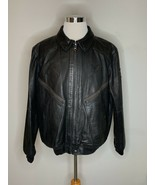 Polo Ralph Lauren Leather Moto Jacket Heavy Triumph Bomber Black XXL $12... - $449.95
