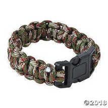 Fun Express Large Camouflage Paracord Bracelets - $11.49