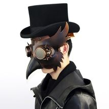 Reenactment Plague Doctor Steampunk Bird Leather Mask Halloween Gothic Cosplay image 10