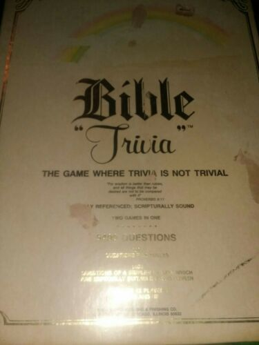 Bible Trivia Board Game Cadaco 1984 Vintage Complete 5400 Questions Family