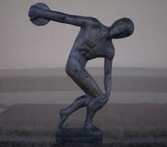 Discobolus of Myron Bronze Statue  Ancient Greek Antique Style - $129.00