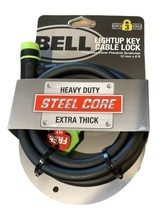 Bell Bicycle Lock With Light up Key Cable Lock - Heavy Duty Steel Core 6... - $15.83