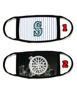 Seattle Mariners Face Mask with black string reusable washable #3 - $14.54+