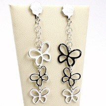 Drop Earrings 925 Silver, Waterfall Butterfly, by Maria Ielpo Made in Italy image 1