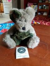 """Boyds Bears Lillian K. Bearsley #91743 1998 10"""" Plush W/Gr Rompers  - $6.86"""
