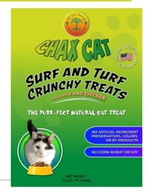 Chax Cat Surf and Turf Crunchy Salmon and Chicken Cat Treats, Sourced an... - $8.25
