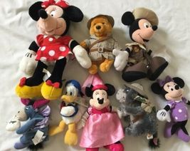 Disney Eeyore Pooh Minnie Mickey Plush Lot ... And Donald Too! image 6