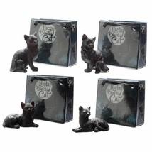 Lucky Black Cat in Mini Gift Bag, Christmas Gift/Present/Stocking Filler - $3.88