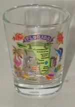 Florida Map Clear Shot Glass Shotglass 16076 - $9.94