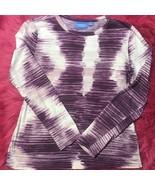 Simply Vera Vera Wang Women Purple Long Sleeve T Shirt S - $11.88