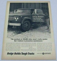 1966 Print Ad 1961 Dodge D600 Farm Truck 220,000 Mile Overhaul - $10.87