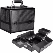 Makeup Artist Train Case Cosmetic Beauty Krystal Professional Cases Storage New - $69.99