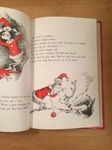 """Vintage """"How the Grinch Stole Christmas"""" red hardcover childrens book image 7"""