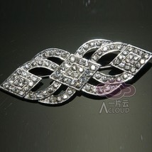 Wedding Sash Belt Rhinestone Crystal Brooch Pin Jewelry - $9.89