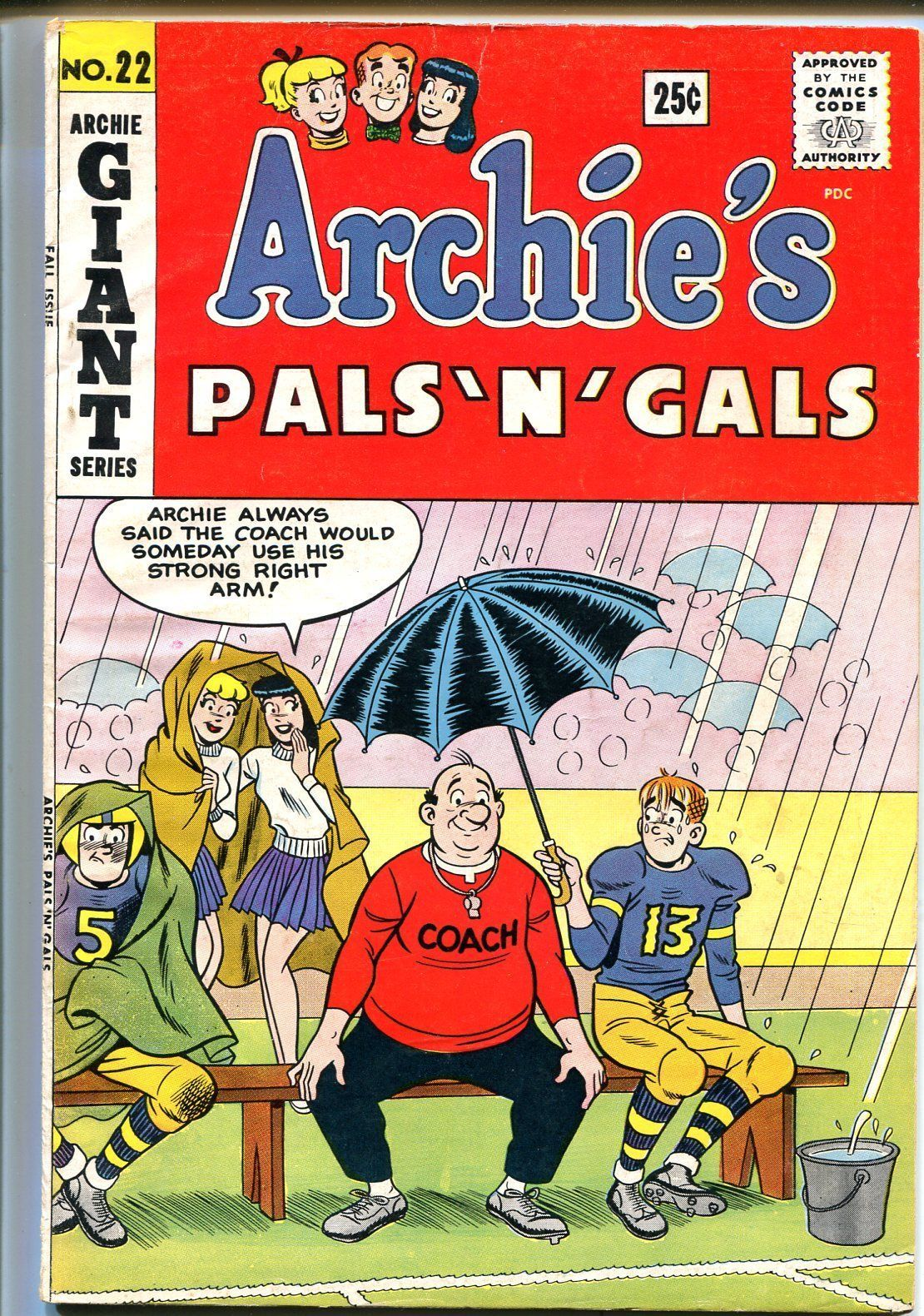 Primary image for Archie's Pals 'n' Gals #22 1962-MLJ-Betty-Veronica-Giant issue-VG/FN
