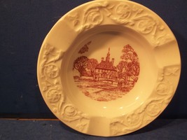 Vintage Wedgwood Ashtray Red Governor's Palace Colonial Williamsburg Virginia - $9.99
